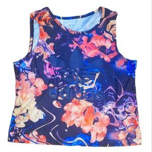 #AG Adidas Ocean Water Waves Floral Top 14 15 xl